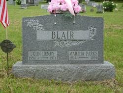 Martha Belle <i>Parks</i> Blair