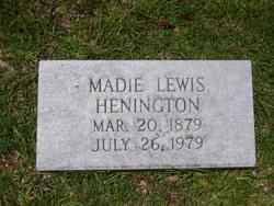 Madie <i>Lewis</i> Henington