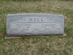 Sarah E <i>Berry</i> Hill