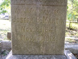 Pvt Joseph Bacon Martin
