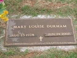 Mary Louise <i>Keller</i> Durham
