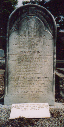 Mary Ann <i>Padgham</i> Button
