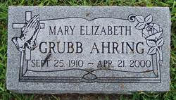 Mary Elizabeth <i>Grubb</i> Ahring