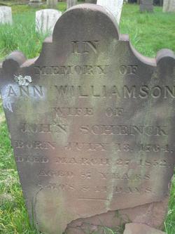 Ann <i>Williamson</i> Schenck