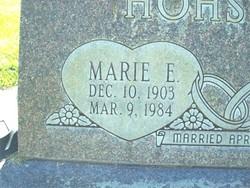 Marie E. <i>Clevenger</i> Hohstadt