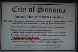 Sonoma Veterans Cemetery