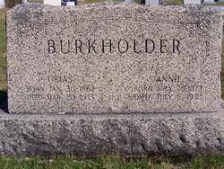 Annie <i>Shoemaker</i> Burkholder