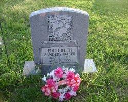 Edith Virginia Ruth <i>Sanders</i> Baker