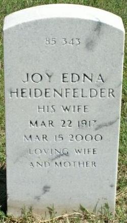 Joy Edna <i>Feldman</i> Heidenfelder