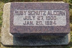 Ruby Edith <i>Schutz</i> Alcorn