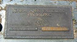 Sara Ann <i>Parkman</i> Birdsong