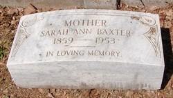 Sarah Ann <i>Edwards</i> Baxter
