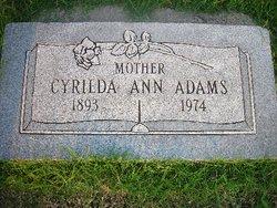 Cyrilda Ann <i>Peterman</i> Adams
