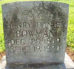 Henry Daniel Bog Bowman