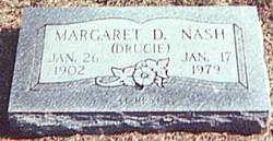 Margaret Drucilla Druce <i>Peaden</i> Nash