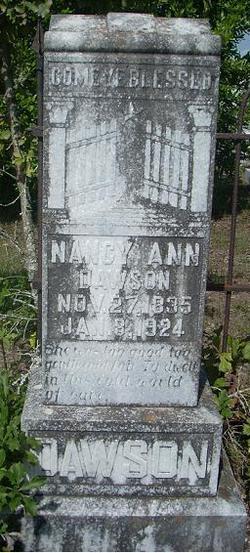 Nancy Ann <i>Jernigan</i> Dawson