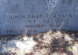 Pvt Bernard E. Lyons