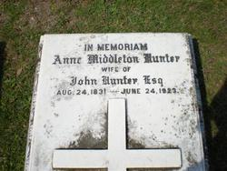 Anne Manigault <i>Middleton</i> Hunter