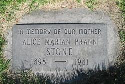 Alice Marion <i>Prann</i> Stone