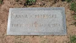 Anna A Petroske