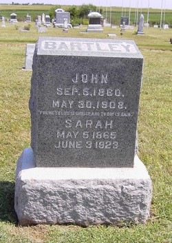 Sarah J <i>Martin</i> Bartley