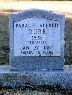 Paralee <i>Allred</i> Durr