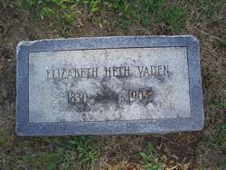 Elizabeth <i>Heth</i> Vaden