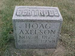 Gertrude <i>Hoag</i> Axelson