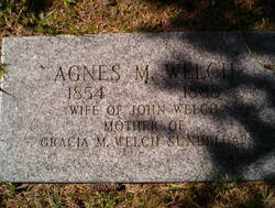 Agnes M Welch