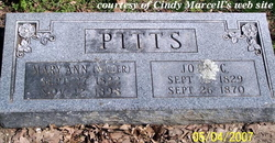 Mary Ann <i>Miller</i> Pitts