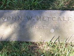 Pvt John W. Metcalf
