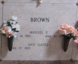 Mansel E Brown