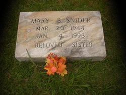 Mary Bessie <i>Burks</i> Snider