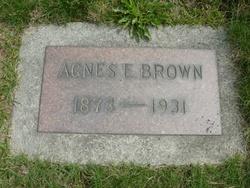 Agnes E Brown