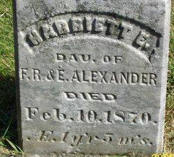 Harriet E Alexander