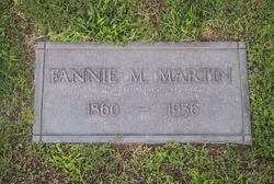 Frances Maria Fannie <i>Brooks</i> Martin