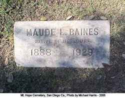 Maude L Baines