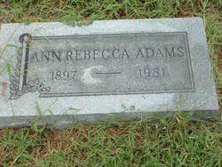 Ann Rebecca Adams