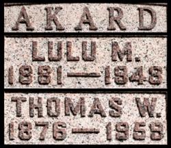 Lulu M. <i>Stevenson</i> Akard