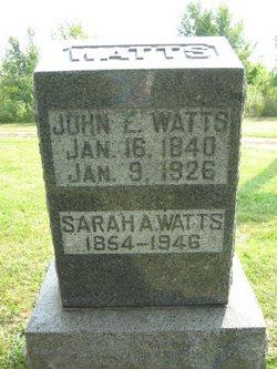 Sarah Ann <i>Mills</i> Carey-Watts