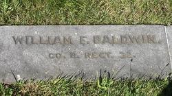 Pvt William F. Baldwin