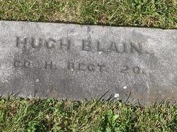 Pvt Hugh Blain