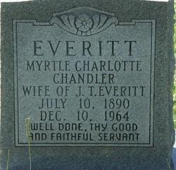 Myrtle Charlotte <i>Chandler</i> Everitt