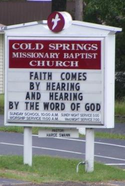 Cold Springs Baptist Church Cemetery