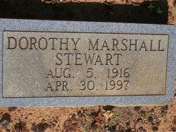 Dorothy <i>Marshall</i> Stewart