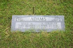 Williams Manford Willie Adams