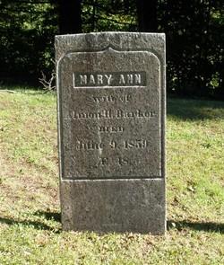 Mary Ann Barker
