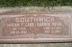 Miriam Frances <i>Carr</i> Southwick