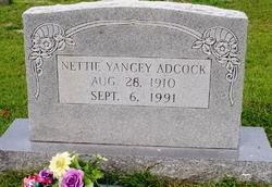 Nettie Marilla <i>Yancey</i> Adcock