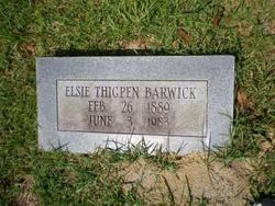 Elsie <i>Thigpen</i> Barwick